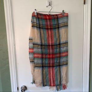 Aerie plaid blanket scarf